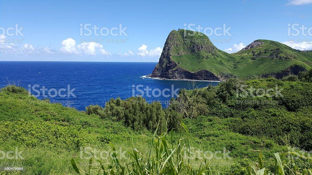 Kahakuloa Bay stock photo