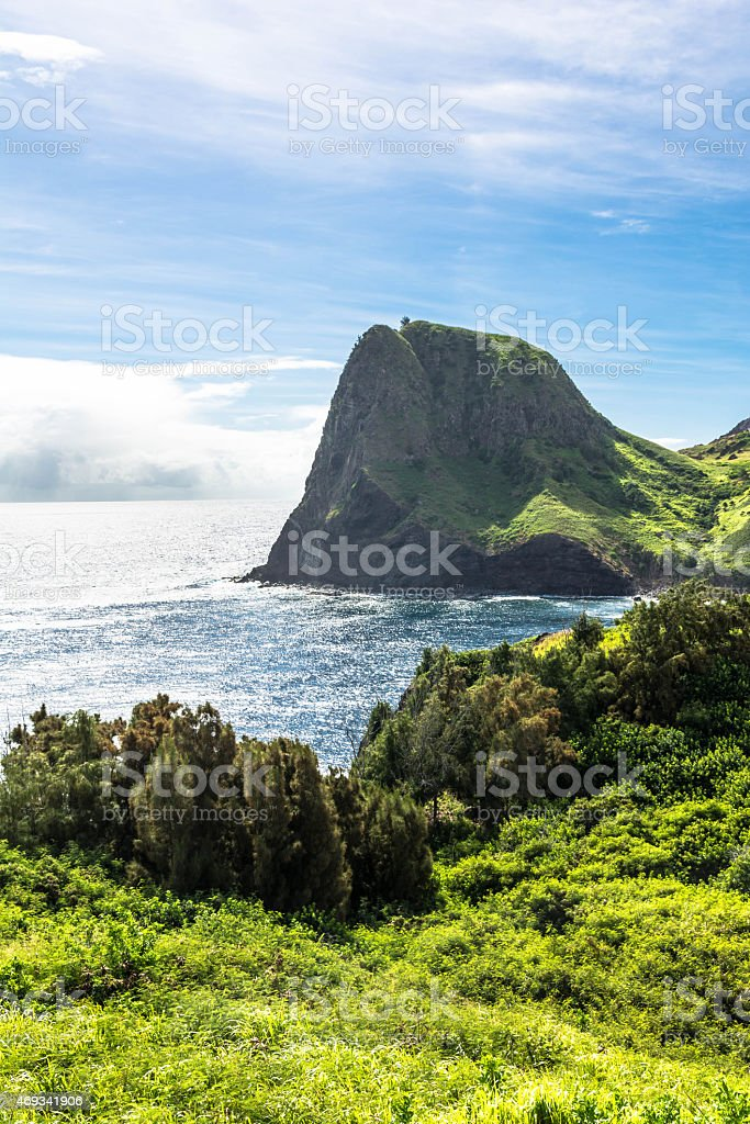 Kahakuloa Head in West Maui, Hawaii stock photo