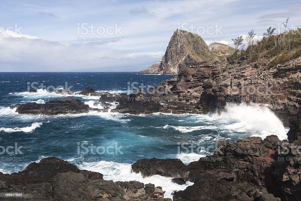 Kahakuloa Head, Maui, Hawaii royalty-free stock photo
