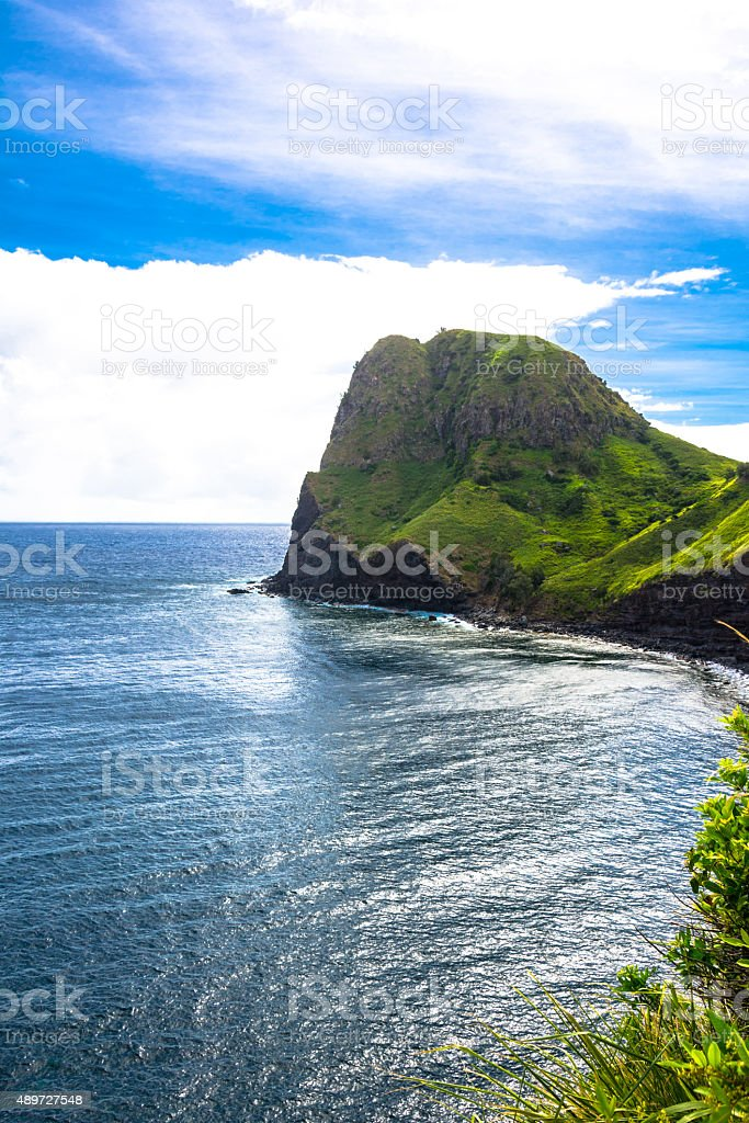 Kahakuloa Head, Maui, Hawaii stock photo
