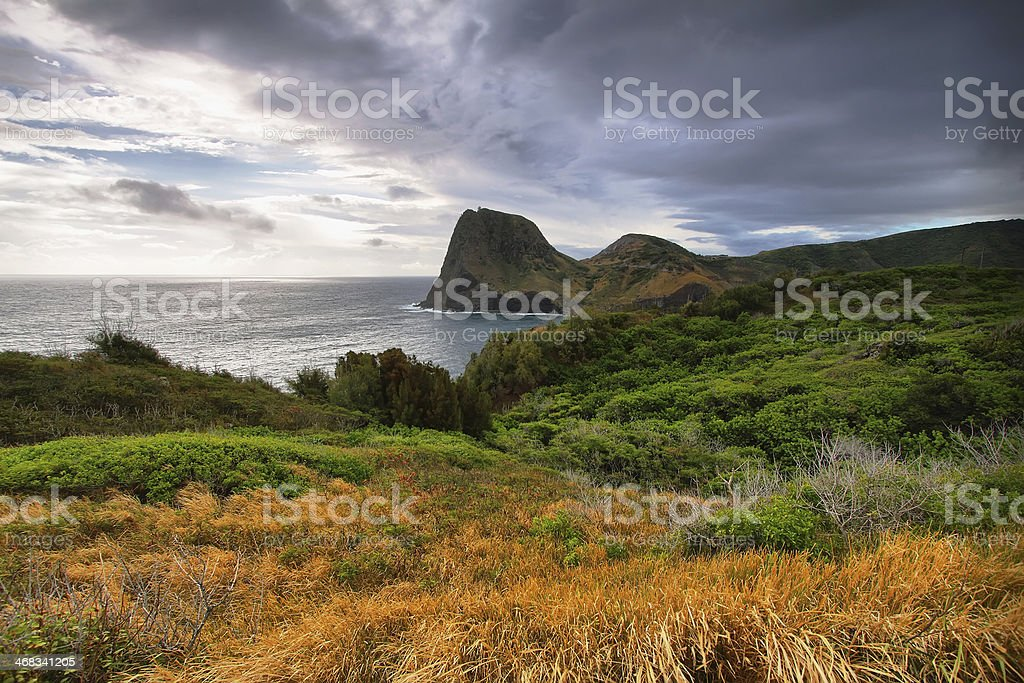 Kahakuloa Head stock photo