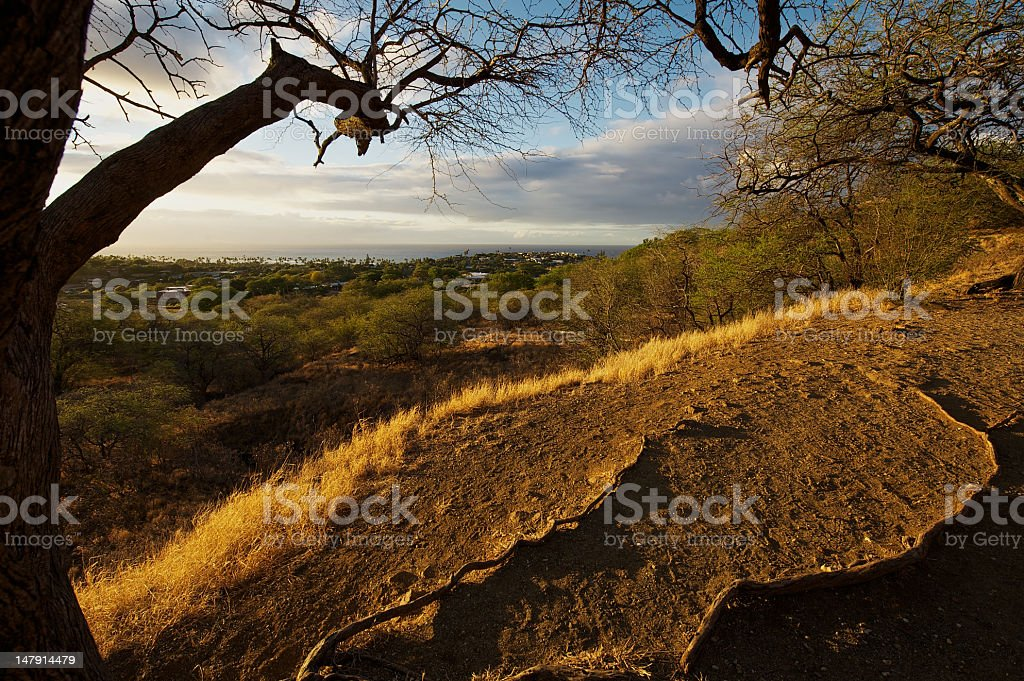 Kahala from Diamond Head stock photo