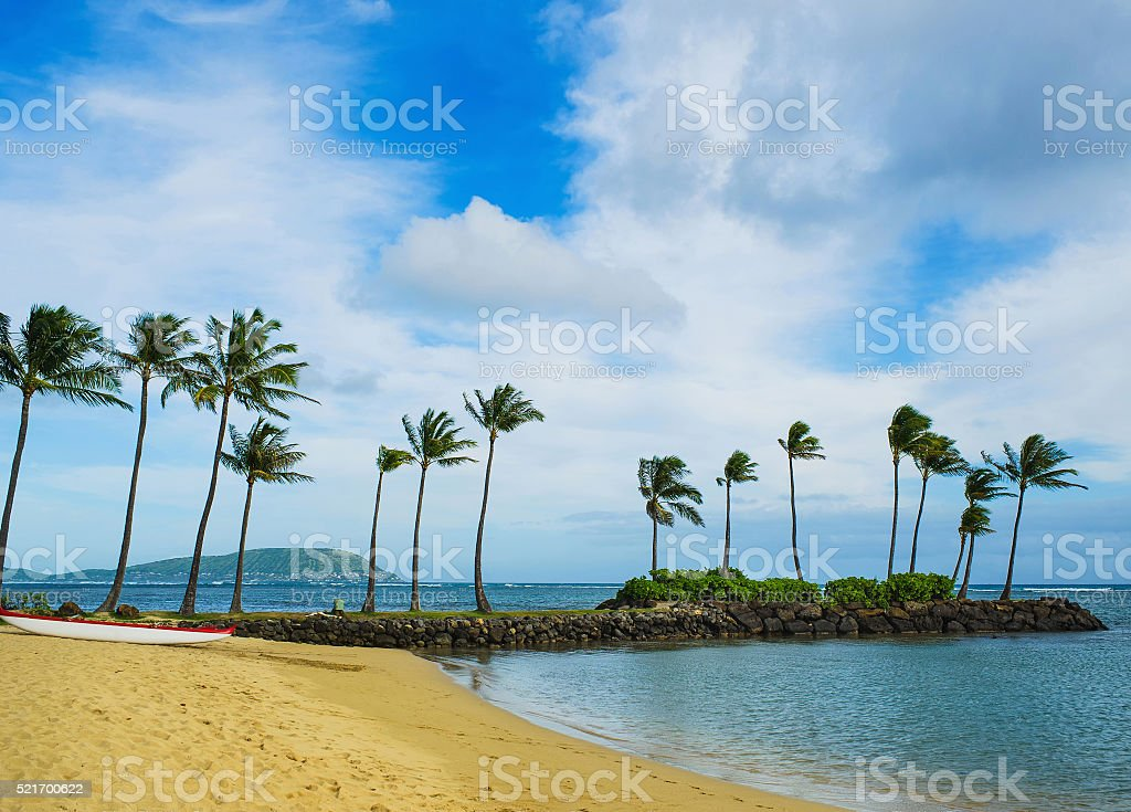 Kahala Resort Beach view stock photo