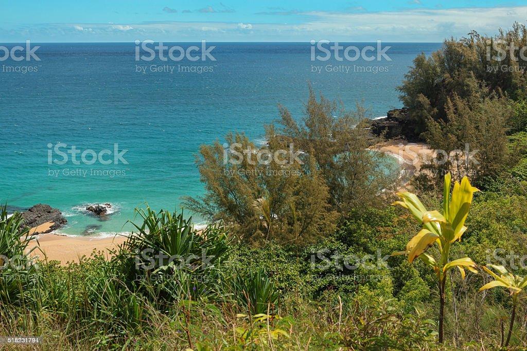 Kahalahala Beach stock photo