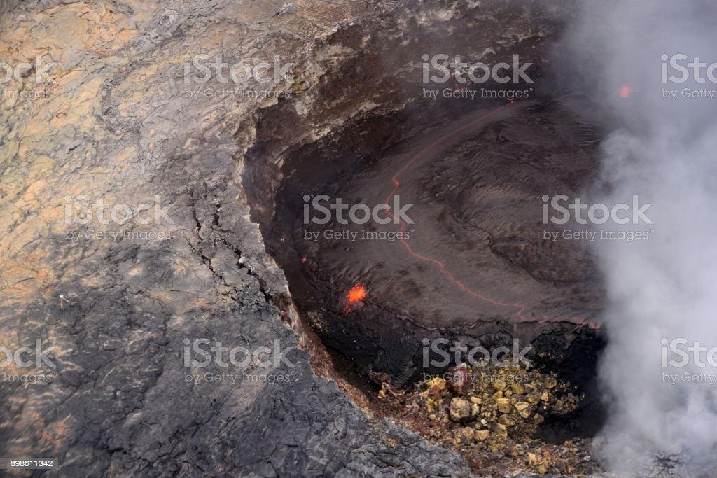 Kahaualea Active Crater stock photo