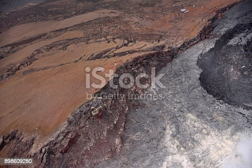 Magma flows from an active crater in the kahaualea natural reserve of the hawaii volcanoes national park