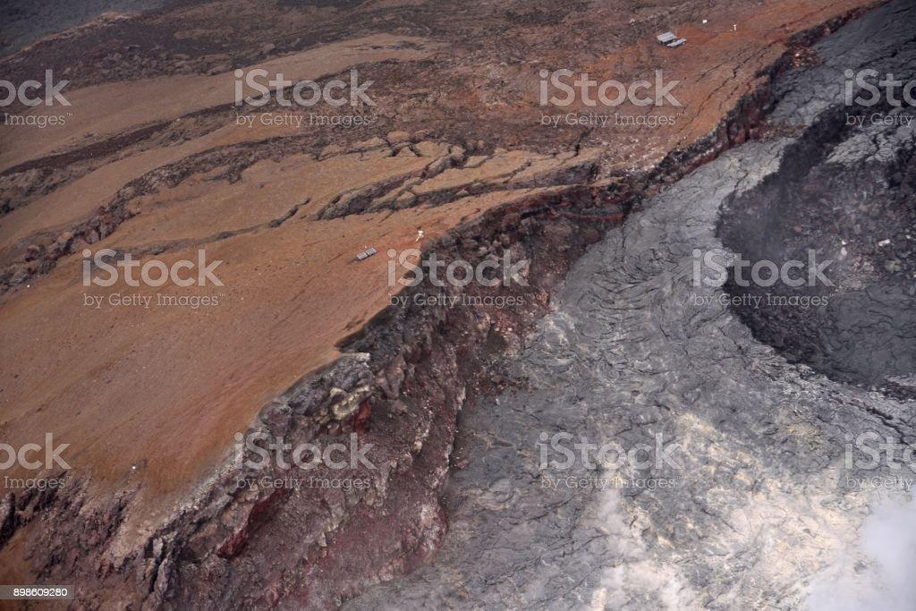 Kahaualea Lave Flow River stock photo