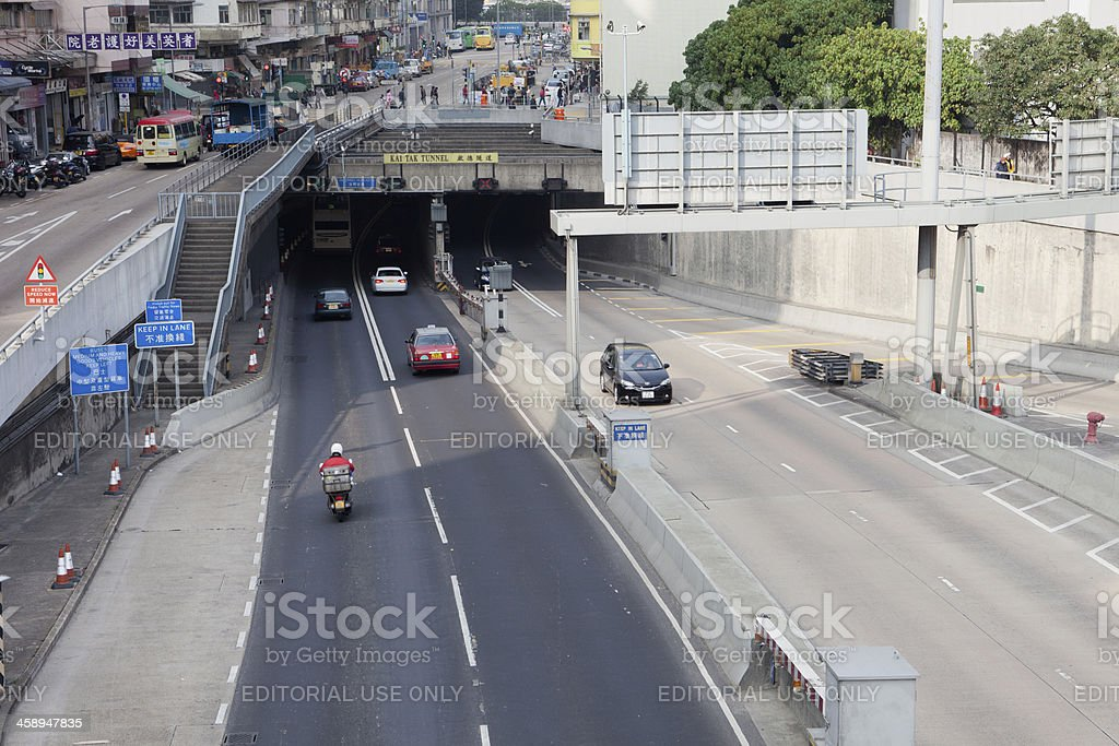 Kai Tak Tunnel stock photo