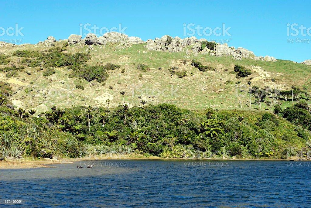 Kaihoka Lakes Scenic Reserve, Golden Bay, New Zealand stock photo