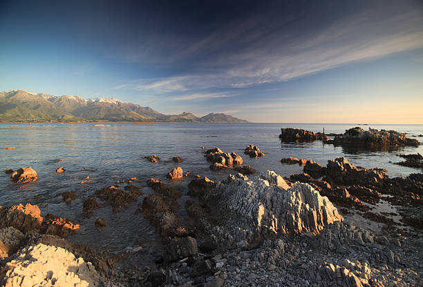 Rugged Coastline Of Kaikoura New Zealand Stock Photos
