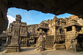 istock Kailas temple in Ellora caves complex in India 629821246