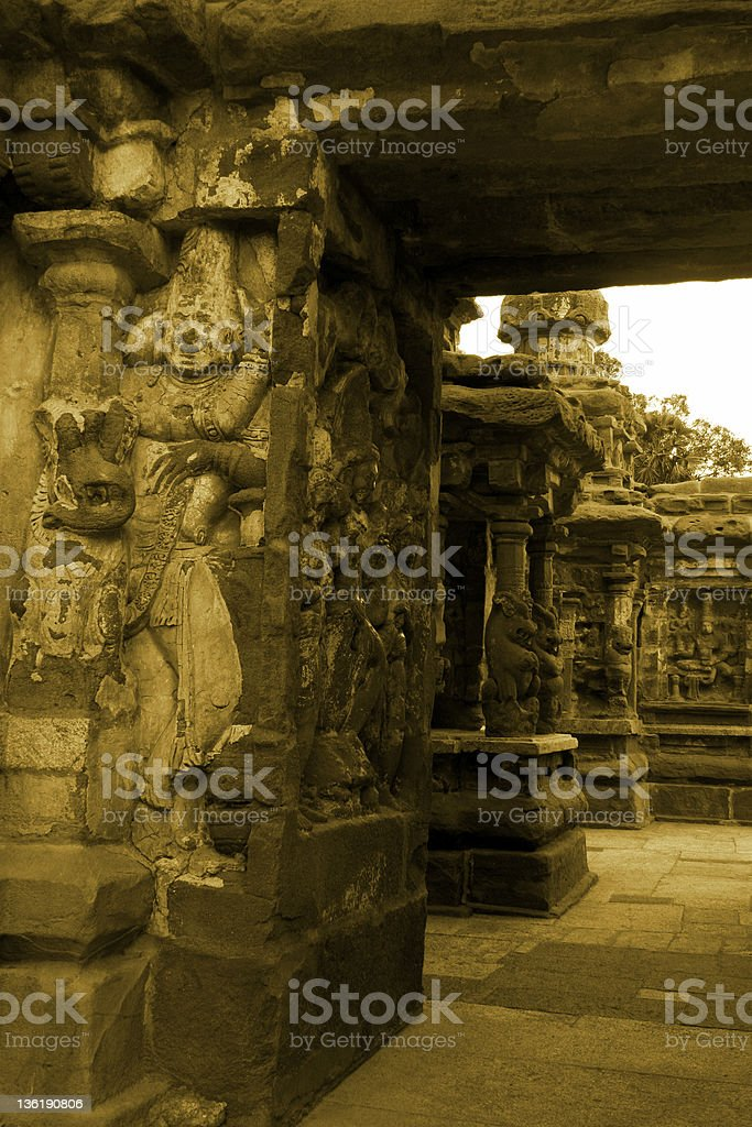 Kailasanathar Temple Entrance royalty-free stock photo