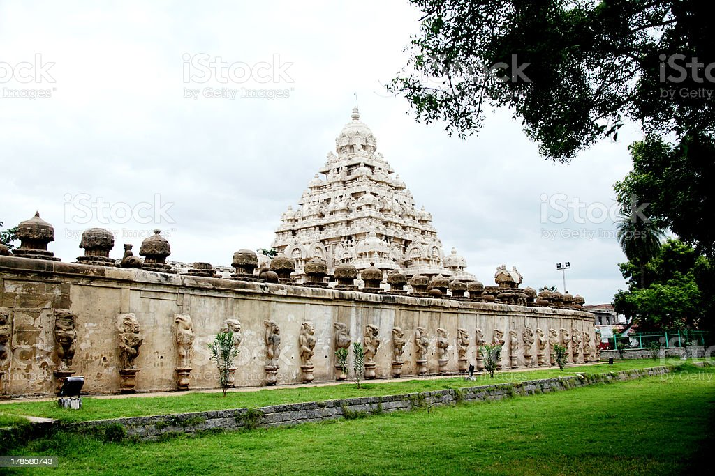 kailasanathar temple in Kanchipuram stock photo