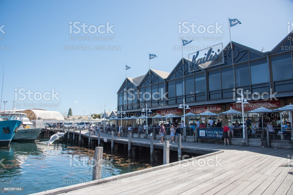 Kaili's Fish Market Cafe Break stock photo