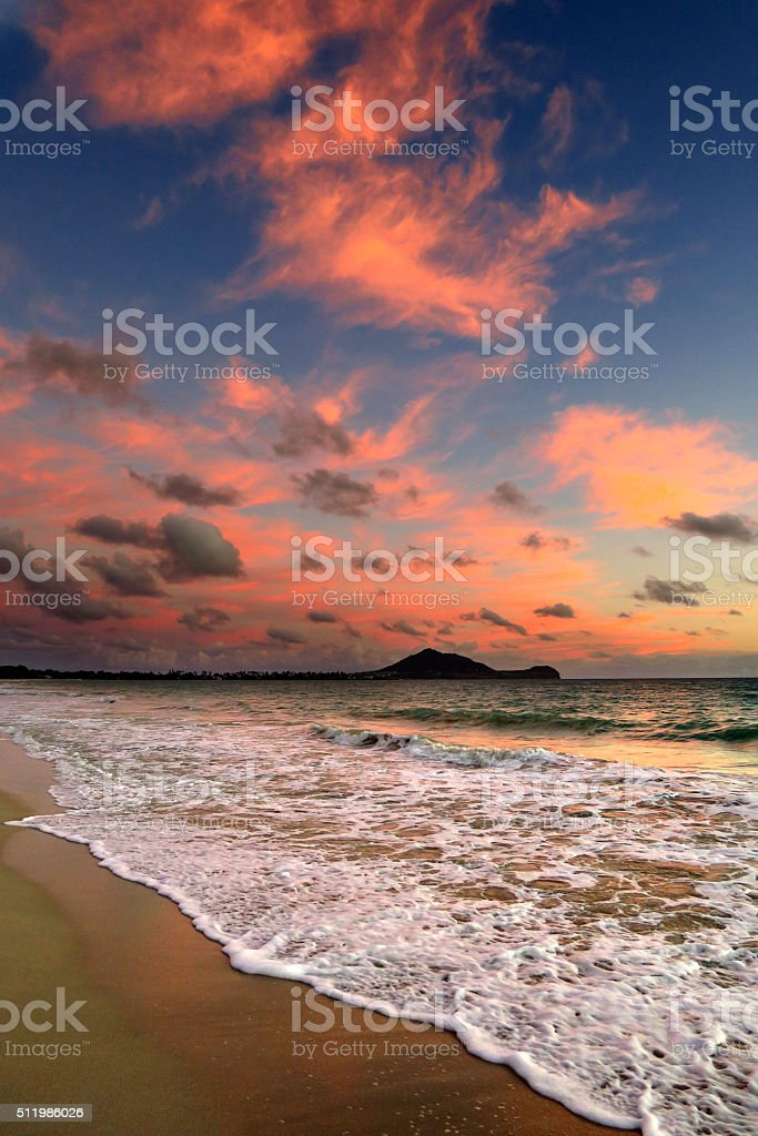 Kailua Bay Morning stock photo
