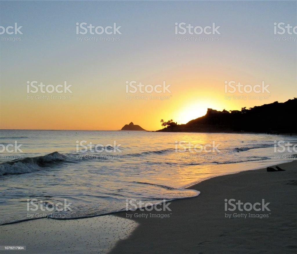 Kailua Beach Park Sunrise 11 29 2018 Kailua Oahu Hawaii