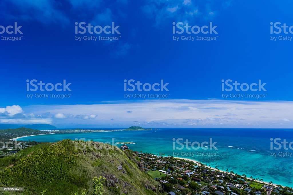 Kailua in Oahu Island stock photo