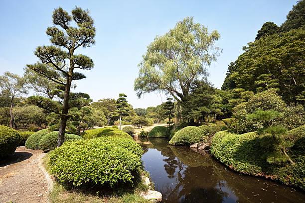 Kairakuen Park in Mito city, Japan stock photo