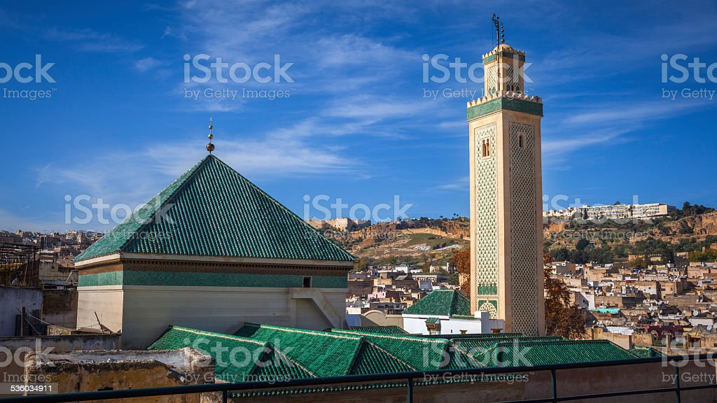 Kairaouine Mosque, Fez stock photo