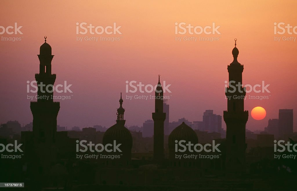 Kairo sunset stock photo