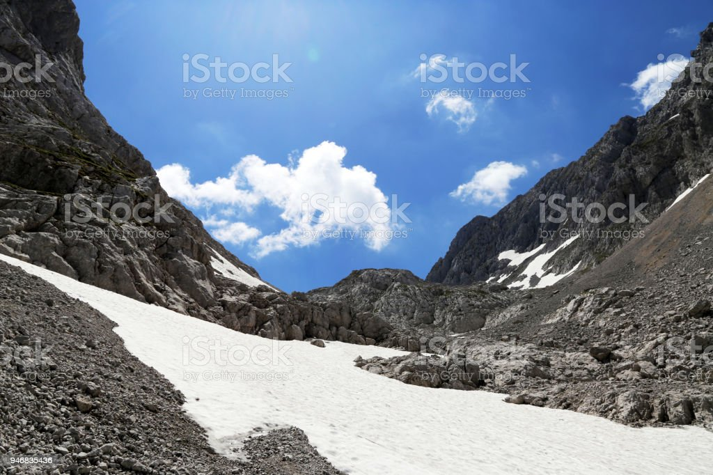 Kaiser Mountains (Wilder Kaiser), Tirol, Austria stock photo