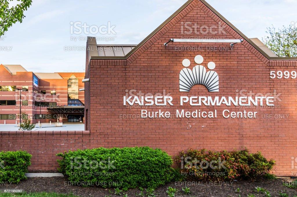 Kaiser Permanente At Burke Medical Center Sign On Brick Wall Stock