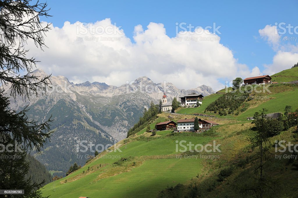 Kaisers in Lech Valley. Tirol. Austria stock photo