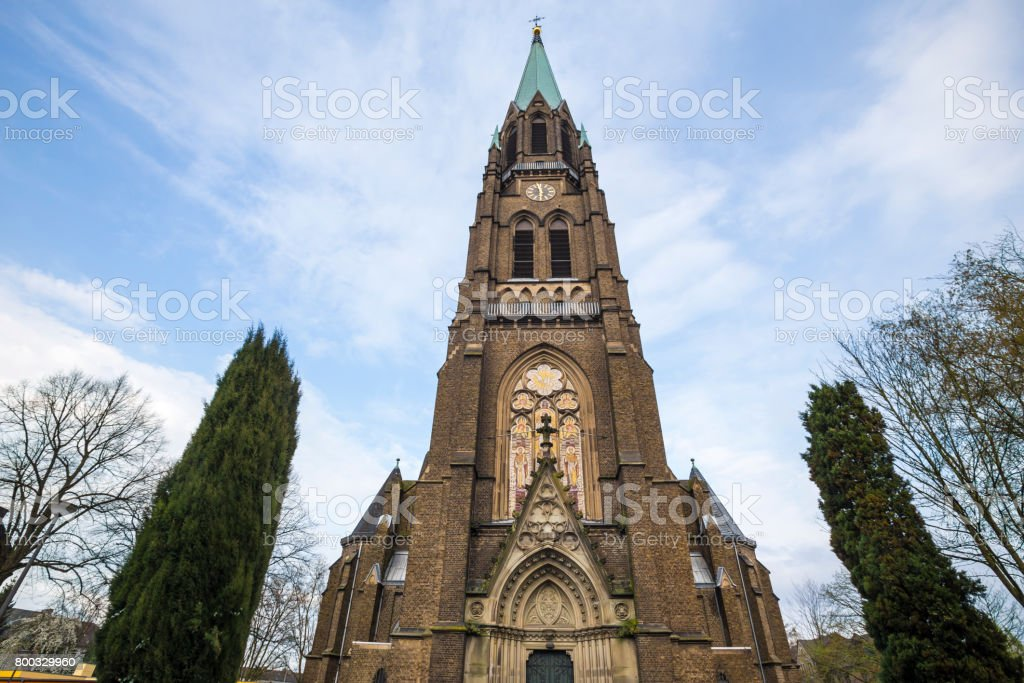 kaiserswerth duesseldorf germany church stock photo