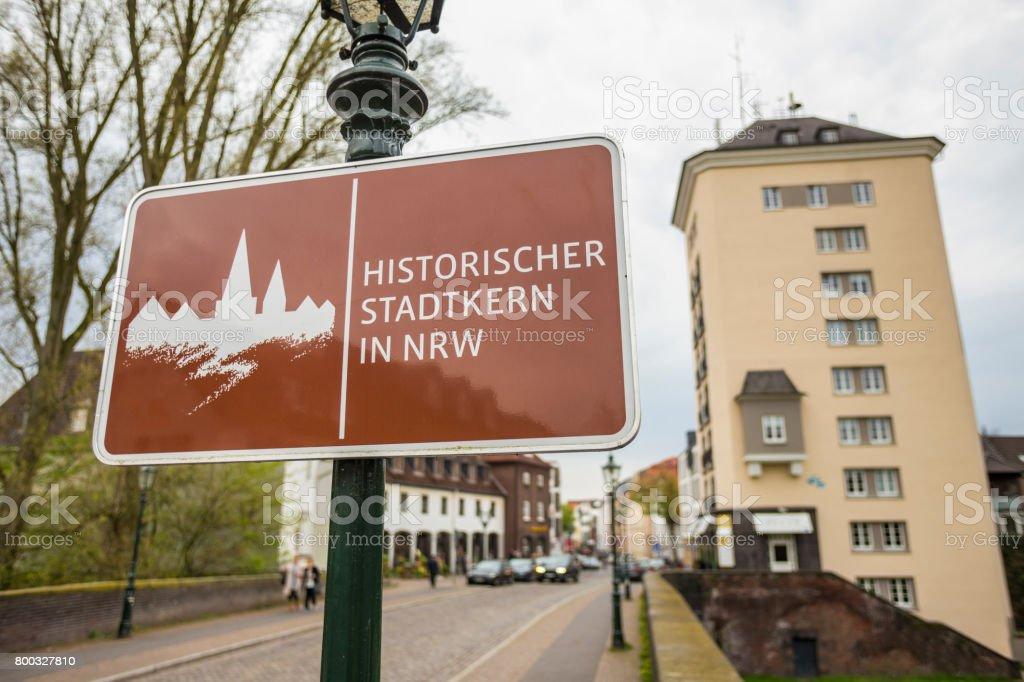 kaiserswerth duesseldorf germany historic town nrw sign stock photo
