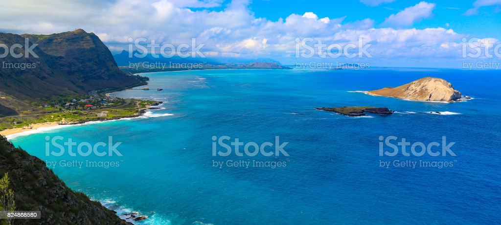 Kaiwi Shoreline in Oahu, Hawaii stock photo