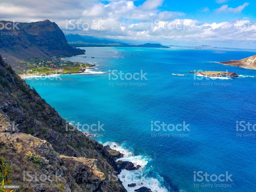 Kaiwi Shoreline stock photo