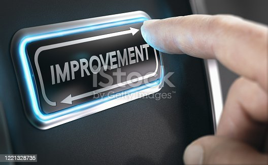 1180722244 istock photo Kaizen, continuous improvement. Improving programmes and processes. 1221328735