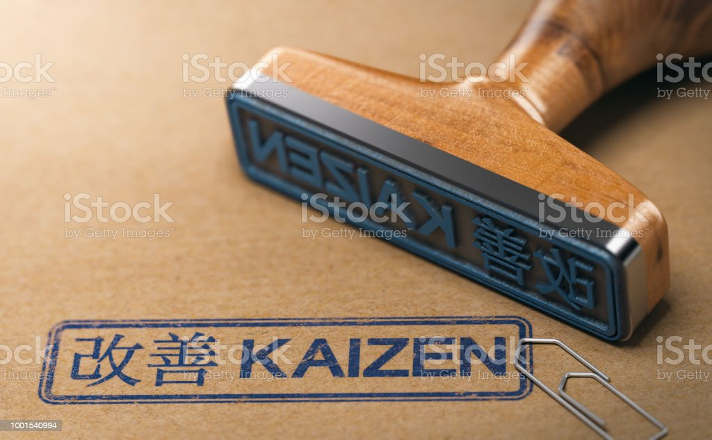 Kaizen-Wort, kontinuierliche Verbesserung und Lean Manufacturing – Foto