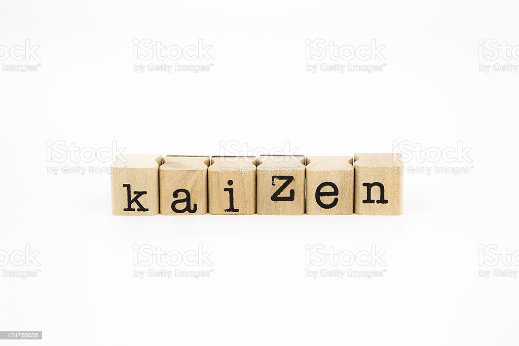 Kaizen wording isolate on white background closeup kaizen wording isolate on white background, business and productivity concept and idea Activity Stock Photo