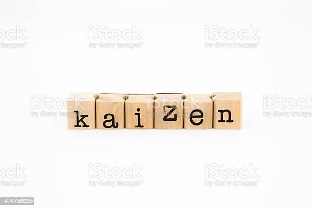 Kaizen Wording Isolate On White Background Stock Photo - Download Image Now