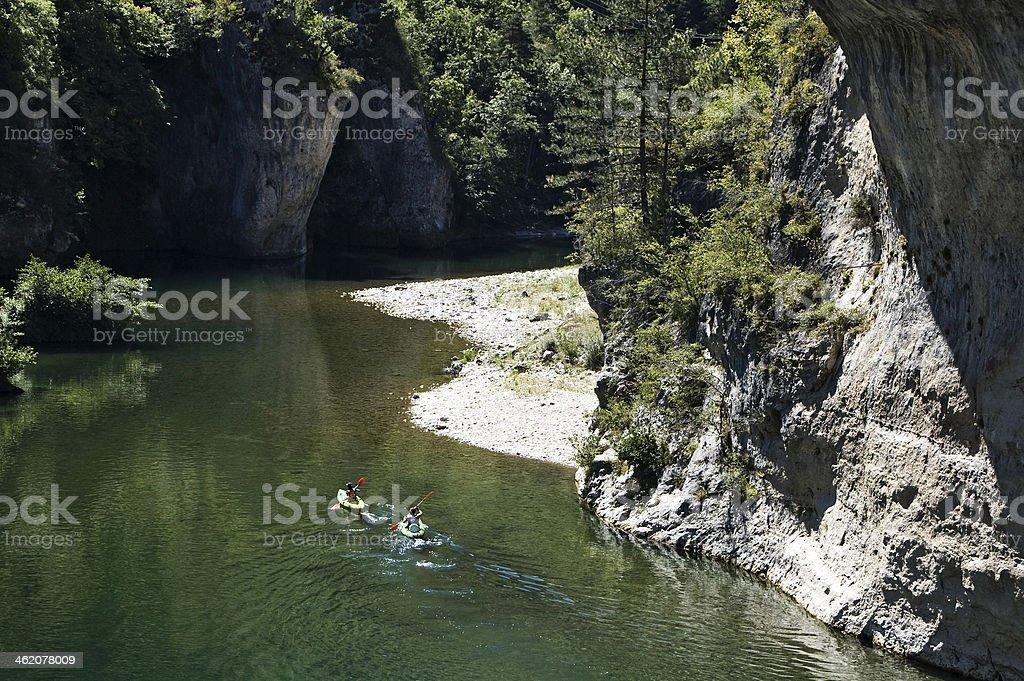 Kajak - Gorges du Tarn stock photo