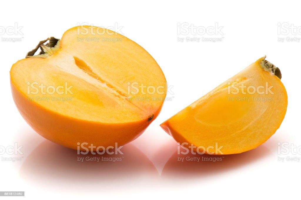 Kaki fruit (Persimmon) isolated stock photo