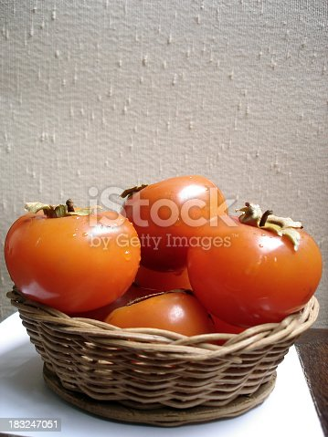 kakis - japanese persimmon - diospyros kaki