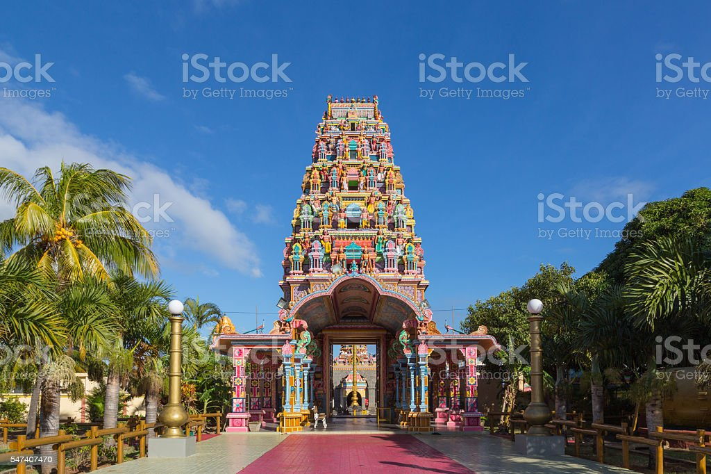 Kalaisson Temple Port Louis Mauritius stock photo