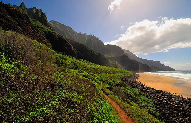 Kalalau Beach am Ende trail – Foto
