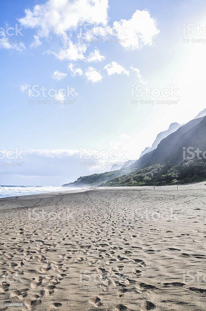 Kalalau Beach - Kauai, Hawaii stock photo