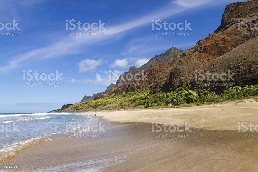 Kalalau Beach stock photo