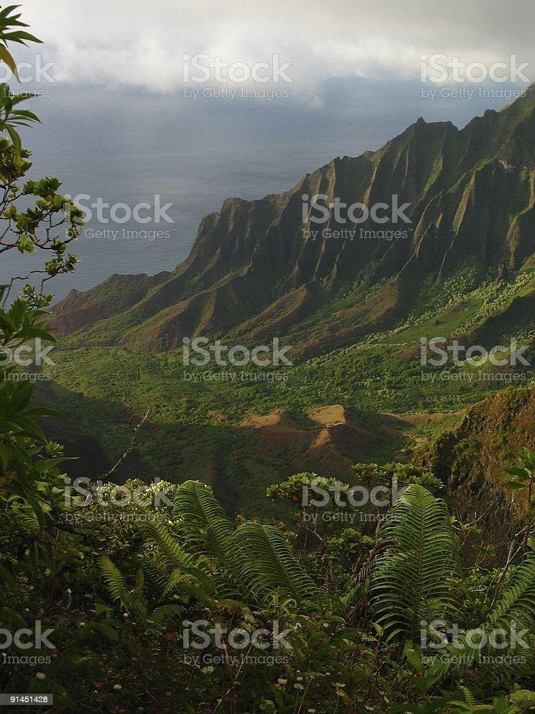 Kalalau Lookout stock photo