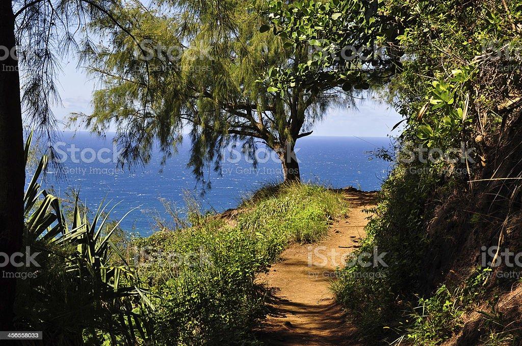 Kalalau Trail at Na Pali Coast - Kauai, Hawaii stock photo