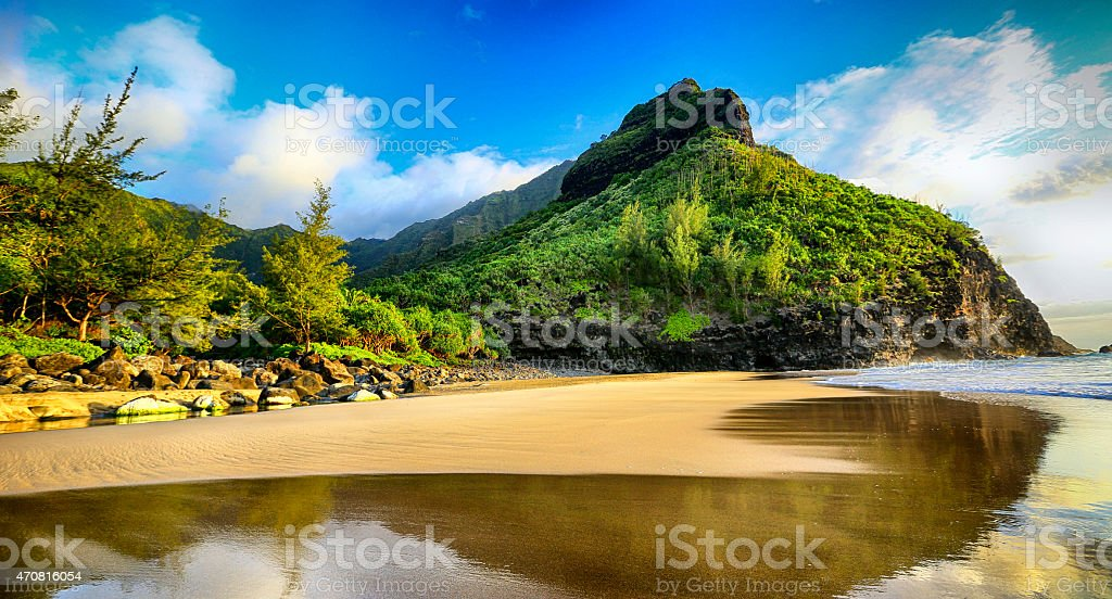 Kalalau Trail, Hawaii stock photo