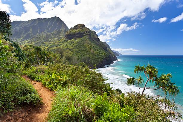 Kalalau Trail, Kauai stock photo