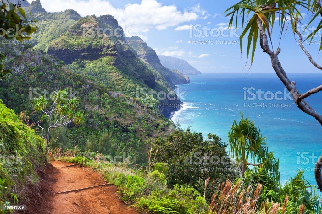 Kalalau Trail, Kauai royalty-free stock photo