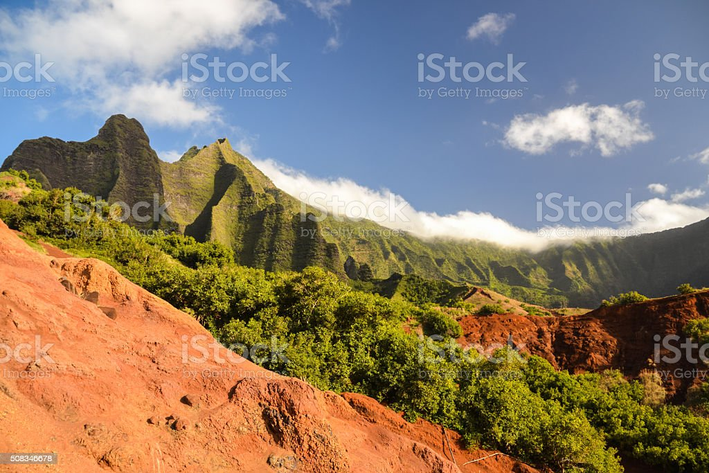 Kalalau Valley at Na Pali Coast - Kauai, Hawaii stock photo