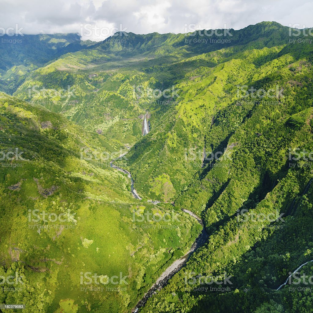 Kalalau Valley Kauai Island Hawaii royalty-free stock photo