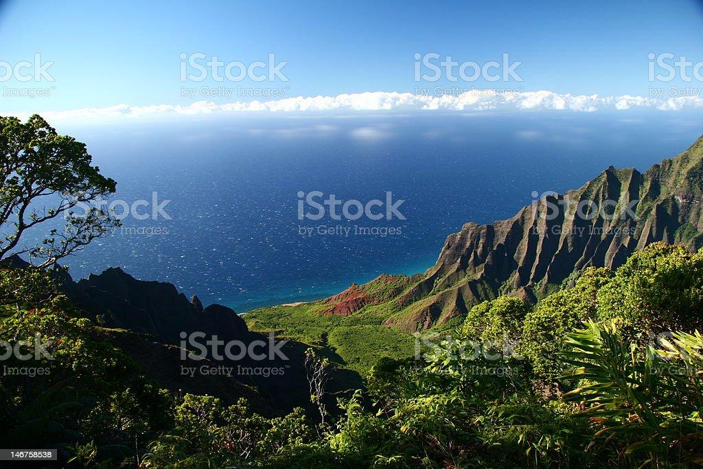 Kalalau Valley Overlook, Kauai (Hawaiian Islands) royalty-free stock photo